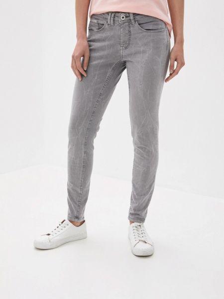 Серые джинсы-скинни с пайетками Stitch & Soul