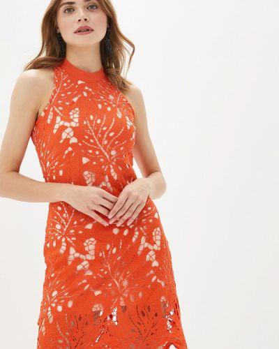 Вечернее платье красный осеннее By Swan
