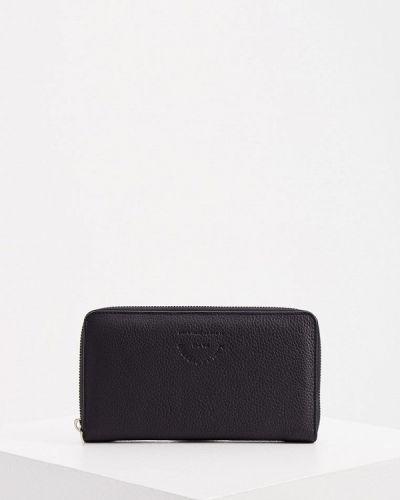 Кожаный портмоне - черный Karl Lagerfeld