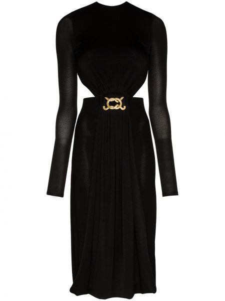 Платье миди черное с оборками Dodo Bar Or