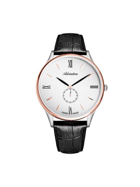 Czarny złoty zegarek Adriatica