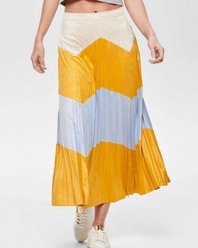 Плиссированная юбка желтый Only