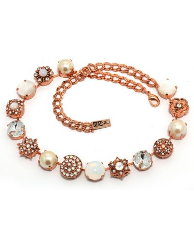Ожерелье с жемчугом - белое Amaro