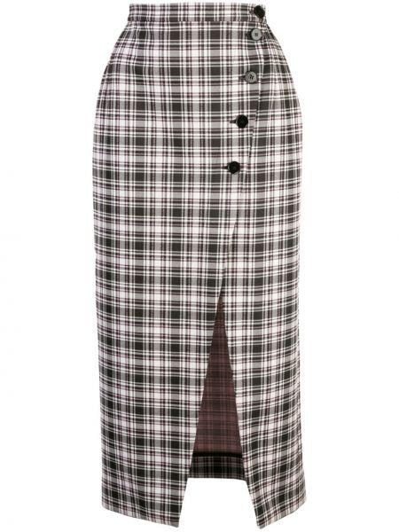 С завышенной талией юбка с запахом на пуговицах Alexa Chung