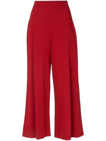 С завышенной талией красные укороченные брюки свободного кроя Ginger & Smart