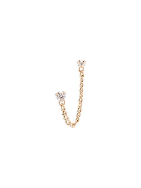 Желтые золотые серьги с бриллиантом Zoë Chicco