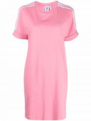 Платье мини короткое - розовое Adidas