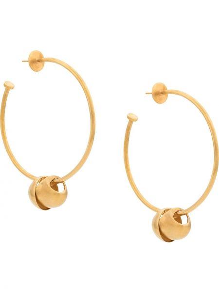 Złote kolczyki oversize Johanna Ortiz