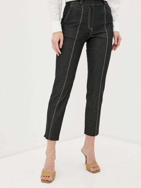Черные джинсы-скинни с пайетками Lorani