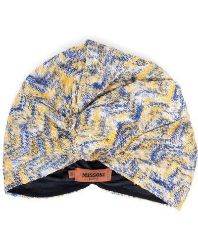 Żółty turban z wiskozy Missoni