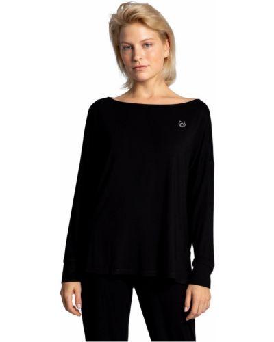 Bluzka z wiskozy - czarna Lalupa