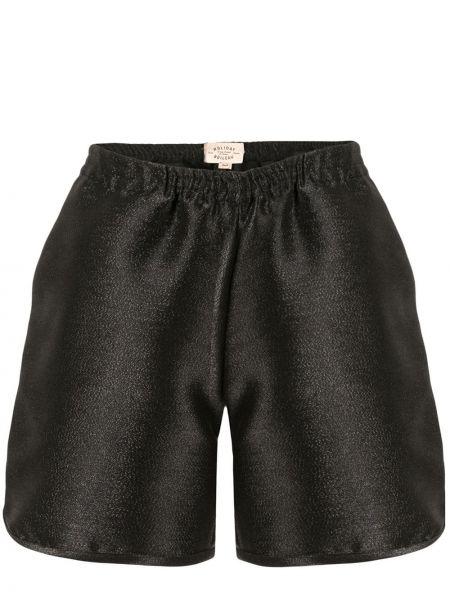 Черные свободные шорты эластичные свободного кроя Holiday