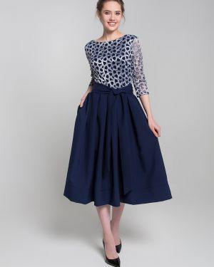 Платье мини с V-образным вырезом с поясом Sezoni