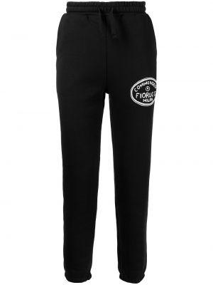 Хлопковые спортивные брюки - черные Fiorucci
