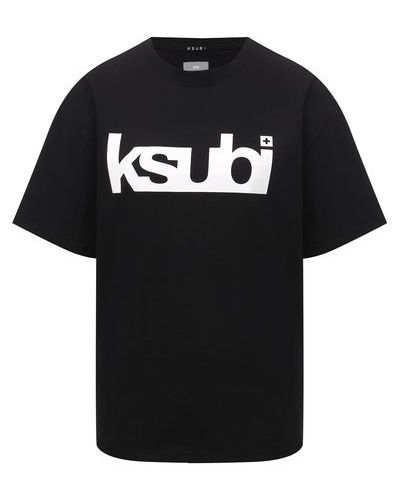 Хлопковая футболка - черная Ksubi