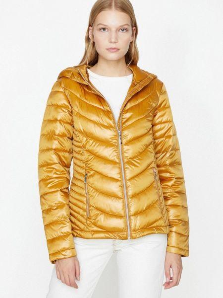 Теплая желтая утепленная куртка Koton