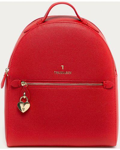 Czerwony plecak elegancki Trussardi Jeans