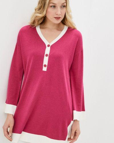 Вязаное трикотажное розовое платье Rodier