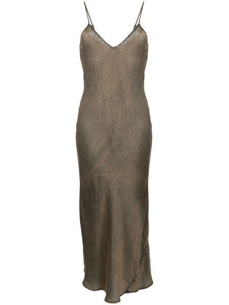 С ремешком серое платье на бретелях из вискозы Mes Demoiselles