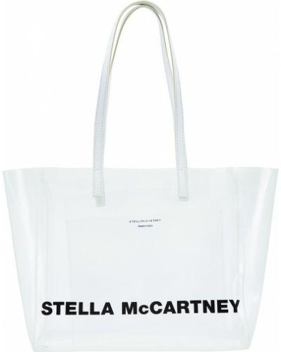 Кожаная сумка через плечо серая Stella Mccartney