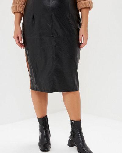 Кожаная юбка черная итальянский Kitana By Rinascimento