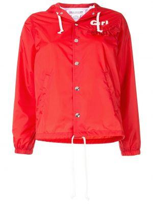 Красная куртка с капюшоном на кнопках Comme Des Garçons Girl