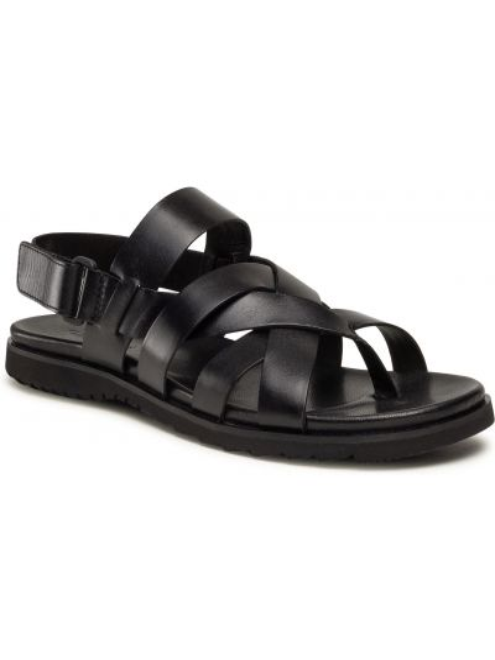 Czarne sandały casual Gino Rossi