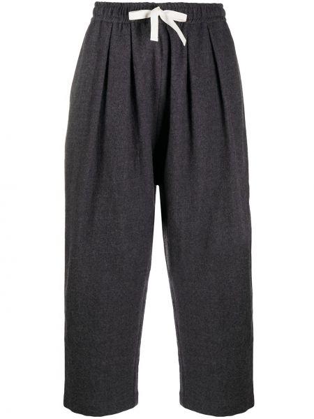 Шерстяные серые брюки свободного кроя на шнурках Sofie D'hoore