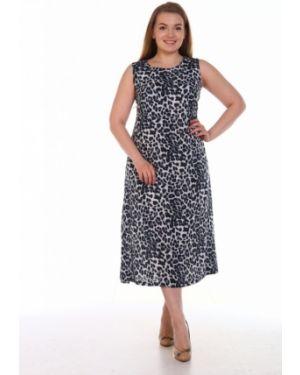 Платье серое из штапеля инсантрик