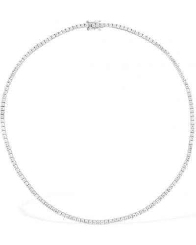 Biały złoty naszyjnik z diamentem Vanzi