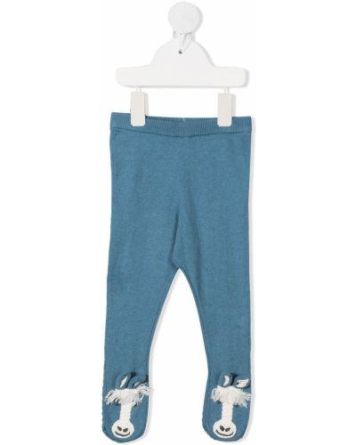 Niebieskie rajstopy wełniane Stella Mccartney Kids