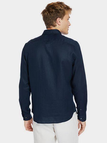 Синяя рубашка с длинными рукавами Timberland