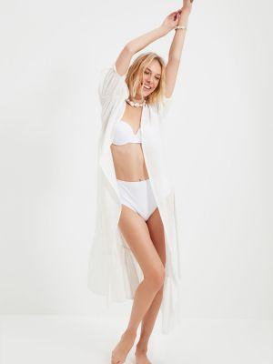 Biały sweter bawełniany Trendyol