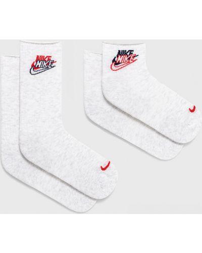 Białe skarpety z printem z nylonu Nike Sportswear