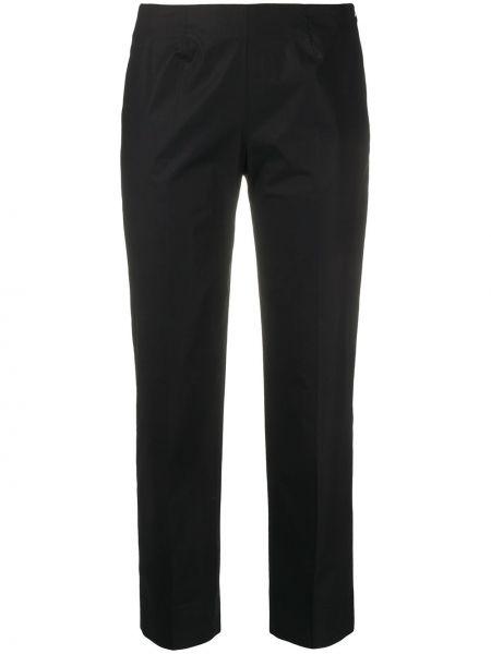 Хлопковые черные брюки на молнии Piazza Sempione