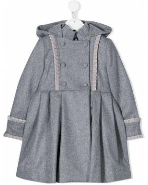 Классическое длинное пальто с оборками Lapin House