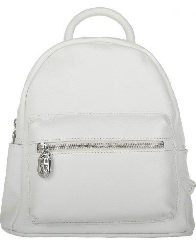 Кожаный рюкзак - белый Sara Burglar