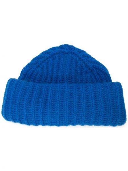 Prążkowana niebieska czapka wełniana Marzi