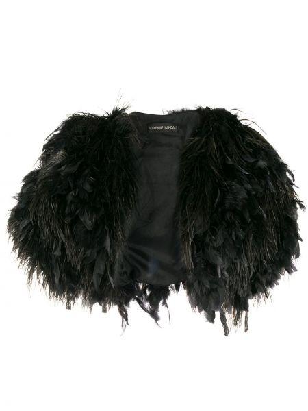 Черный пиджак с короткими рукавами с перьями A.n.g.e.l.o. Vintage Cult
