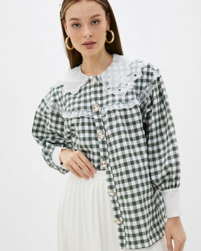 Блузка с рюшами - зеленая Sister Jane