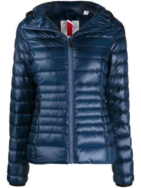 Классическая синяя стеганая куртка с нашивками на молнии Rossignol
