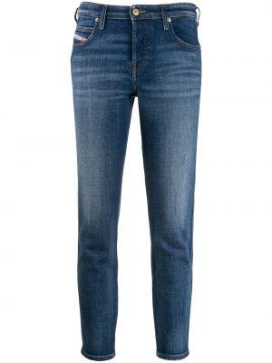 Укороченные джинсы с поясом на пуговицах с пайетками Diesel