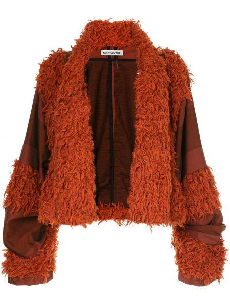 Шерстяная оранжевая куртка винтажная с декоративной отделкой Issey Miyake Pre-owned