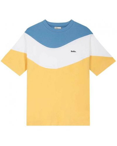 Żółta t-shirt Drole De Monsieur