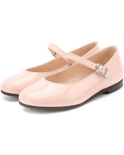 Розовые туфли лаковые Il Gufo