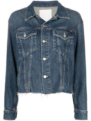 Хлопковая синяя джинсовая куртка с воротником Mother