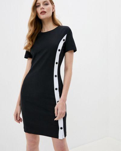Черное платье-футляр Love Moschino