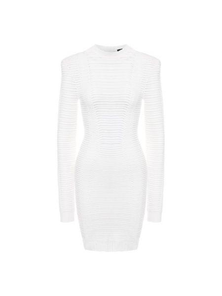 Облегающее платье шелковое платье-поло Balmain