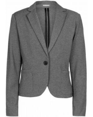 Классический пиджак серый трикотажный Gulliver Wear