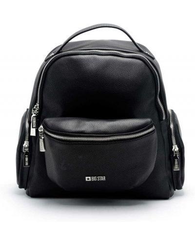 Czarny plecak skórzany Big Star